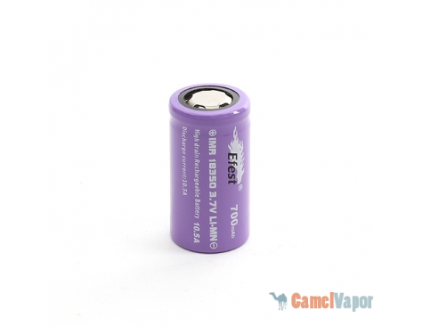 Efest IMR 18350 LiMn 700mAh Battery - Flat Top - 10.5 Amp