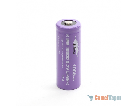 Efest IMR 18500 LiMn 1000mAh Battery - Button Top - 15 Amp