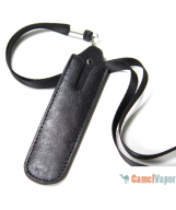 Faux Leather Lanyard